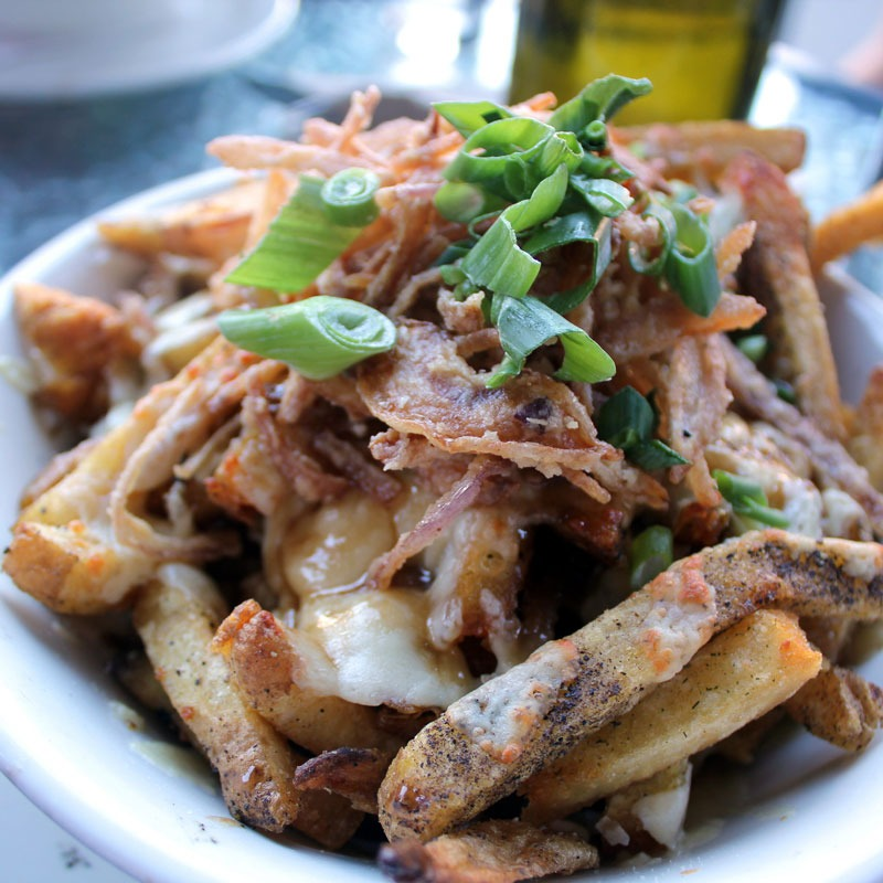 poutine with goulds cheddar cheese curd