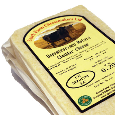 Traditional Hand Made Unpasteurised Farmhouse Cheddar Cheese